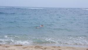 Relajando en el agua