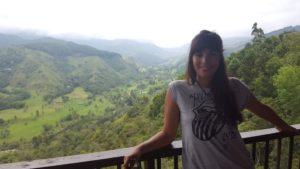 Lu en el mirador del Valle del Cocora