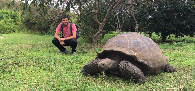 Con una amiga en Islas Galápagos
