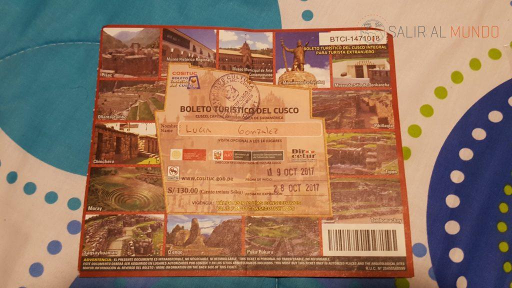 Boleto turístico de Cusco