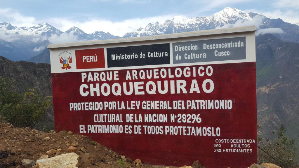Bienvenida a Choquequirao desde Capuliyoc